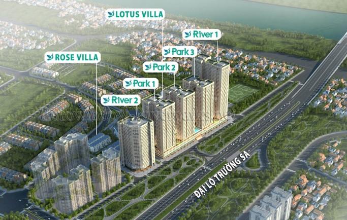 Các căn hộ nhà ở xã hội eurowindow river park : 57m2 – 67m2