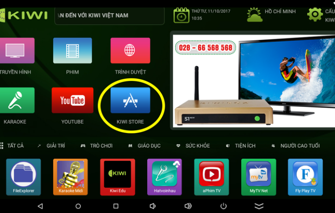 Hướng dẫn sử dụng Kiwi Store trên Android TV Box KiwiBox
