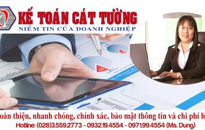 Kế Toán Cát Tường mở dịch vụ kế toán uy tín giá tốt bậc nhất ở HCM