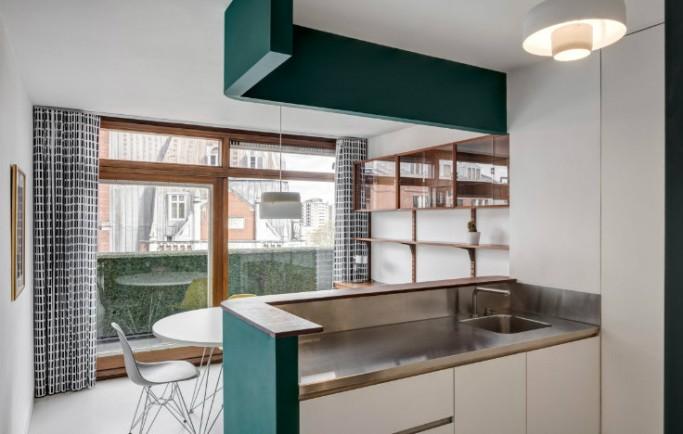 Không gian căn hộ tại London được biến đổi thành một bất động sản Barbican nguy nga