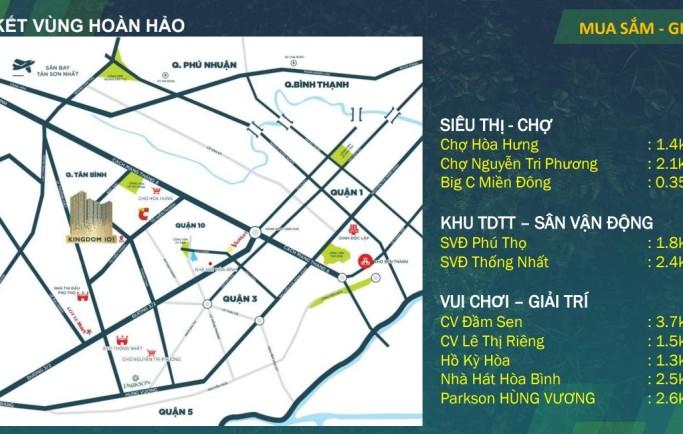 Kingdom 101 sở hữu vị trí nằm ở có chức năng gắn kết vùng dễ dàng