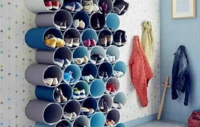 Mẹo đơn giản giúp nhà gọn ngàng với ống nhựa