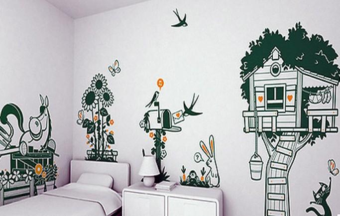 Những bức tường vẽ cực bắt mắt và làm tăng giá trị thẩm mỹ cho ngôi nhà