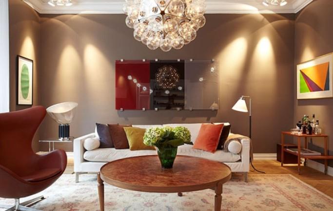 Phòng khách đẹp nhờ trang trí sáng tạo