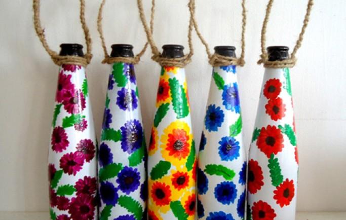 Phương pháp làm tăng giá trị cho ngôi nhà bạn với những kiểu trang trí bằng chai lọ dễ thương