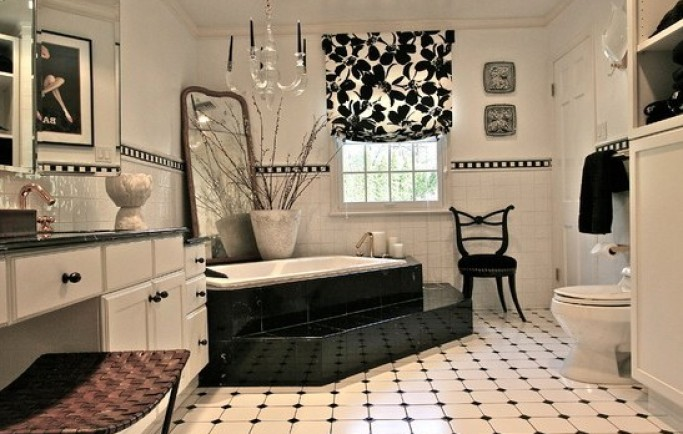 Trang trí nhà chỉ với hai gam sắc cơ bản đen và trắng