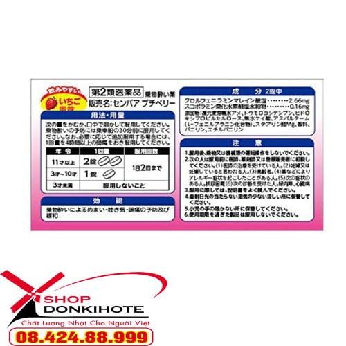 Giới thiệu sản phẩm thuốc say tàu xe vị nho Senpaa petit uy tín số 1