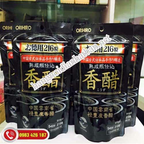 Hé lộ thông tin sản phẩm dấm đen giảm cân Orihiro đến từ Nhật Bản