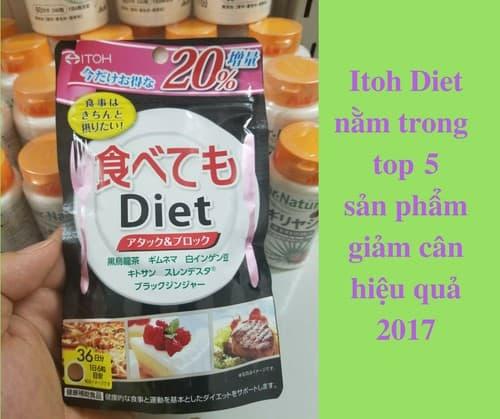 Khám phá thông tin về viên uống giảm cân ITOH Nhật Bản tốt
