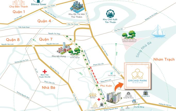 Bán căn hộ Orchid Park liền kề Huỳnh Tấn Phát giá chỉ 14,3 triệu/m2 bằng giá xây dựng
