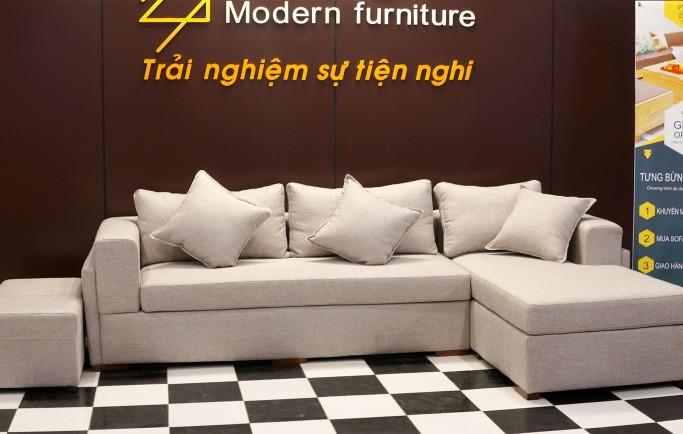 Nên chọn sofa da hay sofa vải cho phòng khách